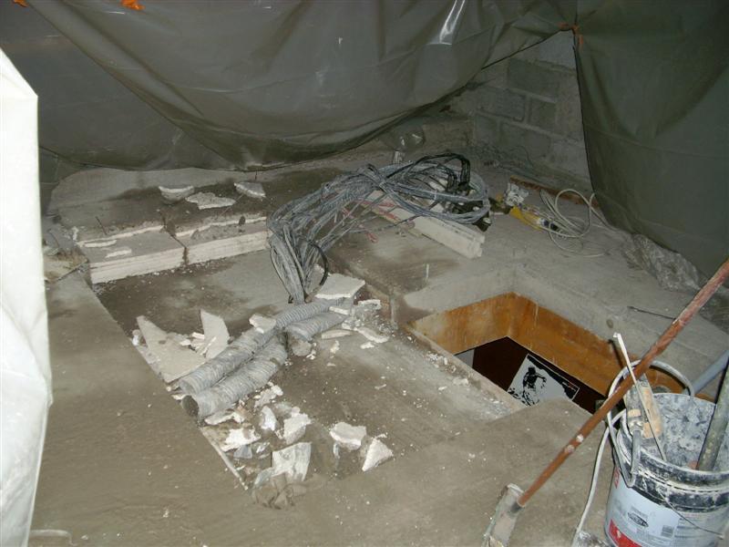 Bricolage pose de l escalier for Ouverture tremie pour escalier